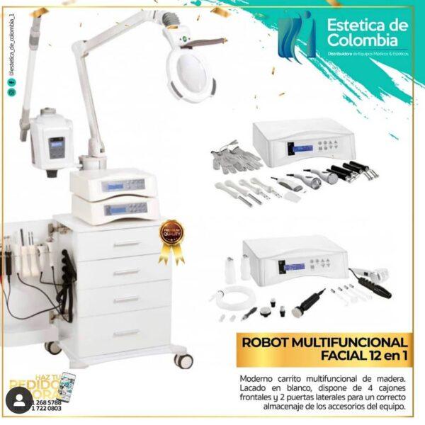robot multifuncional 12 en 1, equipos esteticos en colombia, estetica de colombia